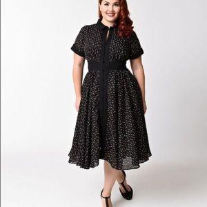 Unique Vintage Plus Size Lipstick Dress